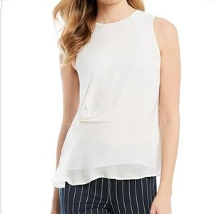 Antonio Melani Nash ivory Sleeveless Silk top